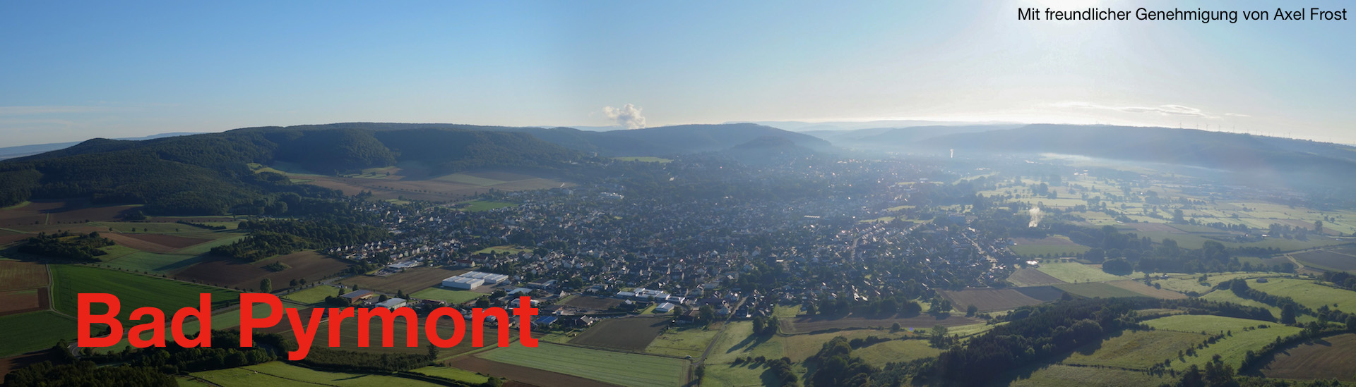 Slider Bild, Pyrmont morgens Westpanorama