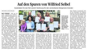 Auf den Spuren von Wilfried Seidel